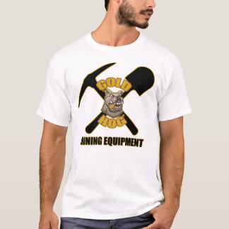Camiseta Logotipo T básico de la mina del cerdo del oro