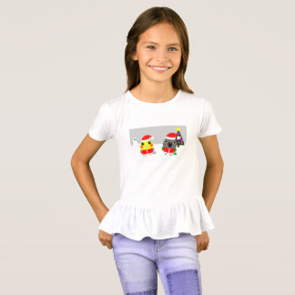 Camiseta loro del Cockatiel y de Senegal del オウム como Santa