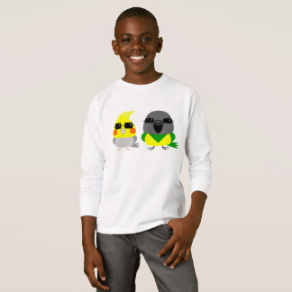 Camiseta loro del Cockatiel y de Senegal del オカメインコオウム con