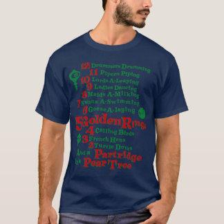 Camiseta Los 12 días de navidad