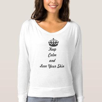 """Camiseta Los amantes de Skincare """"guardan calma y aman su"""