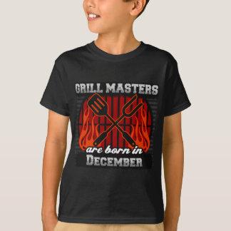 Camiseta Los amos de la parrilla nacen en diciembre