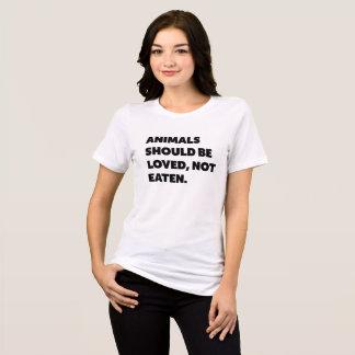 Camiseta los animales deben ser amados, no comido