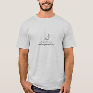Camiseta los clarinetists lo hacen con técnica de la lengua