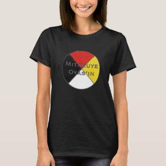 Camiseta Los colores oscuros Lakota de las mujeres de