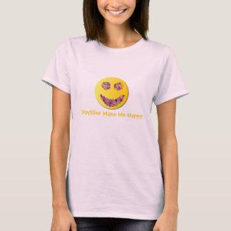 Camiseta ¡Los Daylilies me hacen feliz!