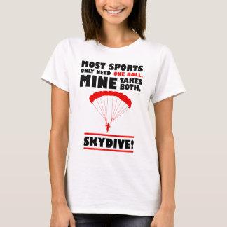 Camiseta los deportes y skydive, mina toma ambos