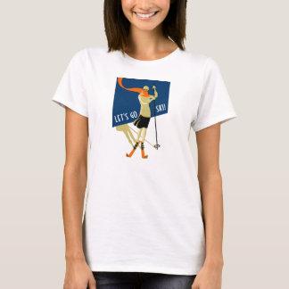 Camiseta ¡Los esquiadores, nos dejaron van esquí! Vintage,