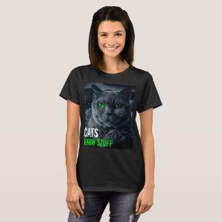 Camiseta Los gatos saben la materia