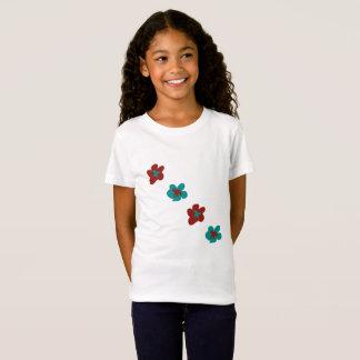 Camiseta Los gráficos del diseño floral por Josie tomaron