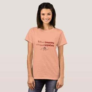Camiseta Los libros son tesoros que se gozarán dondequiera