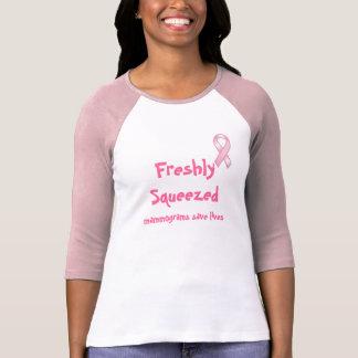 Camiseta Los mamogramas recientemente exprimidos ahorran la