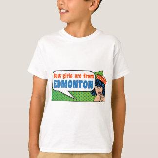 Camiseta Los mejores chicas son de Edmonton