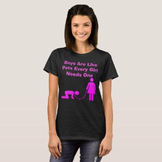 Camiseta Los muchachos son como mascotas