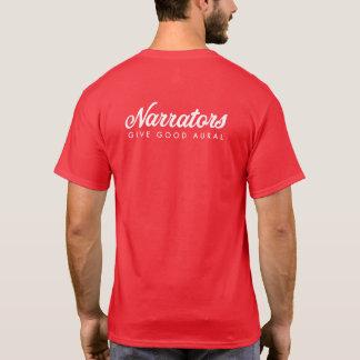 Camiseta Los narradores dan buen f/b blanco/rojo aural t