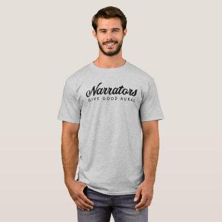 Camiseta Los narradores dan buena tela básica para hombre