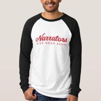 Camiseta Los narradores dan buena tela para hombre aural