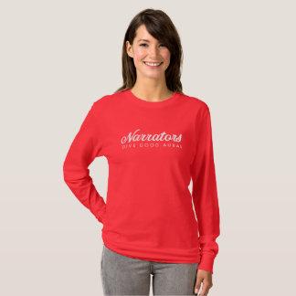 Camiseta Los narradores dan la buena manga larga aural T