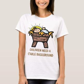 Camiseta los niños necesitan el fondo estable