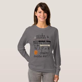 Camiseta Los palillos y las piedras WIPs y las cadenas