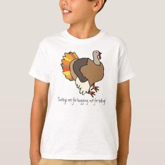 Camiseta ¡Los pavos están para abrazar, no para comer!