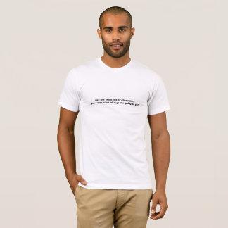 Camiseta Los Pax son como una caja de chocolates, usted