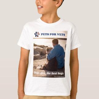 Camiseta Los perros dan los mejores abrazos