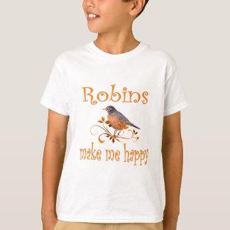 Camiseta Los petirrojos me hacen feliz