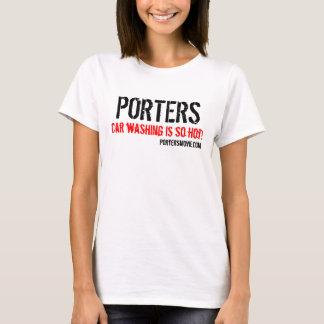 Camiseta ¡Los PORTEROS, lavado del coche son tan calientes!