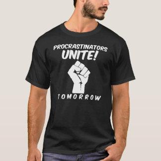 Camiseta Los Procrastinators unen mañana al estudiante