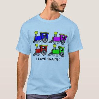 Camiseta ¡los trenes, AMO LOS TRENES!