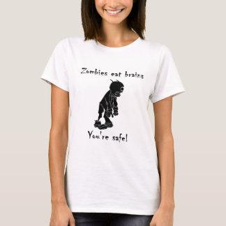 Camiseta Los zombis comen cerebros - usted es seguro