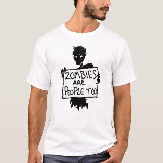 Camiseta Los ZOMBIS del manifestante del zombi SON GENTE