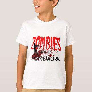 Camiseta Los zombis del regalo del zombi comieron mi