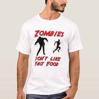 Camiseta Los zombis no tienen gusto de los alimentos de