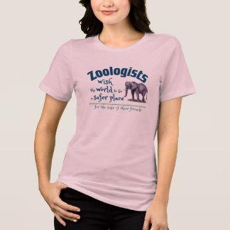 Camiseta Los zoologistas desean a mundo un lugar más seguro