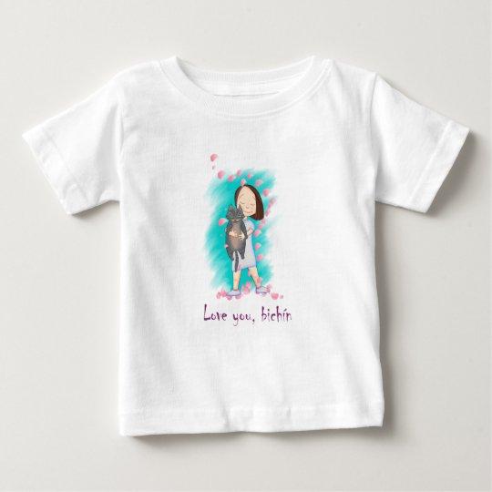 Camiseta Love you, Bichín