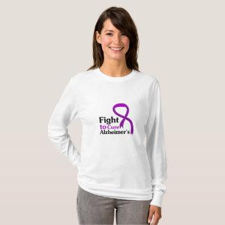 Camiseta Lucha púrpura de la cinta de la enfermedad de