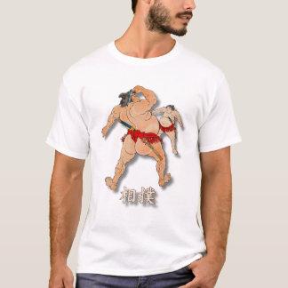 Camiseta Luchadores del sumo con sumo de la palabra en