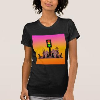 Camiseta Luz de parada con los conejitos, fondo soñador