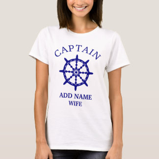 Camiseta Luz de Wife de capitán (personalice a Name de