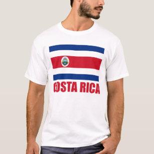 Camiseta Luz roja del texto de la bandera de Costa Rica 97115bd0f88f9