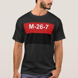 Camiseta M-26-7 bandera - Bandera del Movimiento 26 de