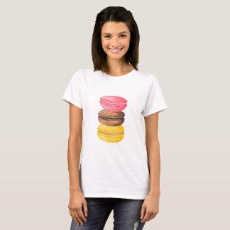 Camiseta Macarrones de la acuarela de los dulces del