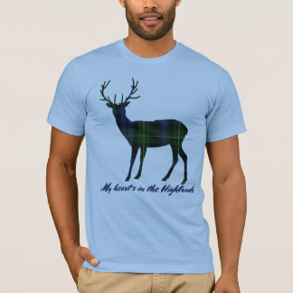 Camiseta Macho del tartán de Campbell de la cita de Robert