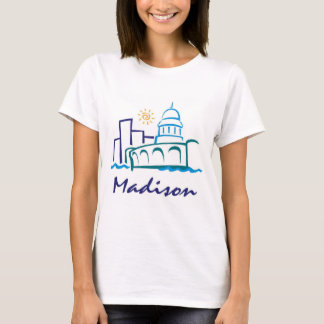 Camiseta Madison, Wisconsin