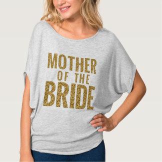 Camiseta Madre del bloque simulado puente del purpurina del