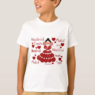 Camiseta Madrid España muñeca flamenca