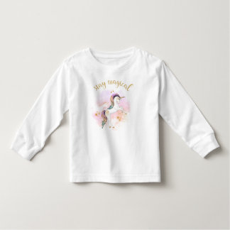 Camiseta mágica del unicornio del arco iris de la