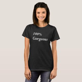 Camiseta magnífica de la impresión del texto del